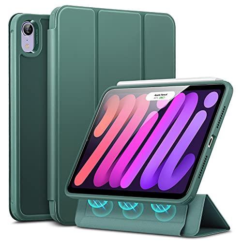 ESR Hybrid Hülle kompatibel mit iPad Mini 6 2021 (6. Generation), 8,3 Zoll, abnehmbare magnetische Abdeckung, Hybrid Rückenschale, Frosted Green