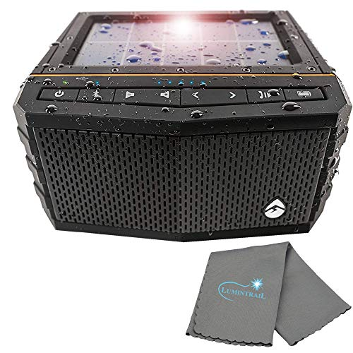 Buy Discount ECOXGEAR SolJam Solar Bluetooth Speaker, Portable, 12 Hour Playtime and Waterproof Bund...