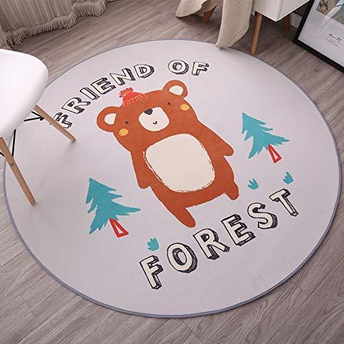 HYY-YY Alfombra redonda para el suelo, silla giratoria, silla de ordenador, silla de ratán, silla de cuna, cojín de 100 cm de diámetro de corazón redondo para enviar Meng Meng Meng