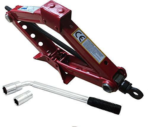 Xtremeauto Universal 1.5T Scissor Lift Jack With Extension Wheel Brace Bar...