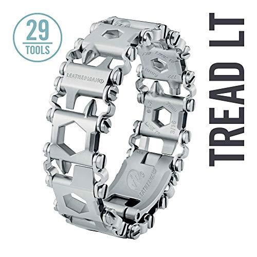 LEATHERMAN - Tread LT, leichtes Multi-Tool Armband, 29 Werkzeuge stets griffbereit am Handgelenk, flexibel einstellbar, Edelstahl