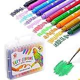 TBC The Best Crafts 24 Farben Wachsmalstift Wachsmalkreide in der Schule für Kinder Kleinkinder Mädchen Junge Starter