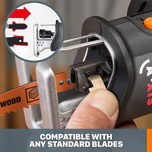 Worx WX550L AXIS Jig/Reciprocating Saw, 27 W, 20 V