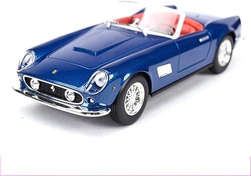 PENGJIE-Model 1 24 Ferrari Klassische Sportwagen statische Simulation Legierung Auto Modell Serie schmuck und versiegelt Display Box (Farbe   Blau)