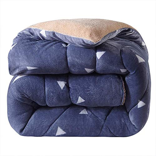 Super Fallei Thicken Double Fleece 15 Tog Ultra Warm Duvet - Winter Quilt Single Double King Super Warm (Color : 150x200cm)