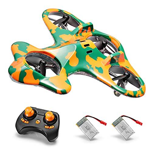 SainSmart Jr. Mini Drohne für Kinder und Anfänger, RC Quadrocopter mit 3D Flip, 3 Geschwindigkeit, Ferngesteuert Helikopter mit 2 Akkus, Drone Spielzeug ab 6-16 Jahre Kinder, Grün