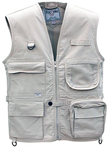 FOXFIRE for Kids Junior Adventure Vest Cotton Stone Size Medium