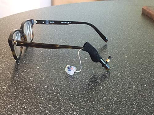 Hearing Aid Retainer for Eyeglass Users. No More Ear Irritation! Made of Fabric. Protect Hearing Aid from Falling Off. (Standard Size. Two per Order)