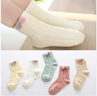 5 Pares De Calcetines Para Niñas Otoño Delgado De Encaje De Princesa Para Niños En El Tubo En El Niño Grande Calcetines De Algodón Calcetines De Bebé 3-5-7 Años