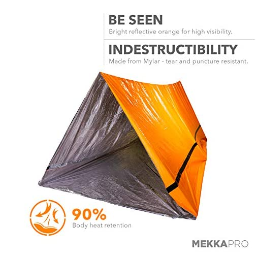MEKKAPRO Emergency Survival Tent Shelter – 2 Person Tent – Survival Emergency Shelter, Tube Tent, Tarp 4