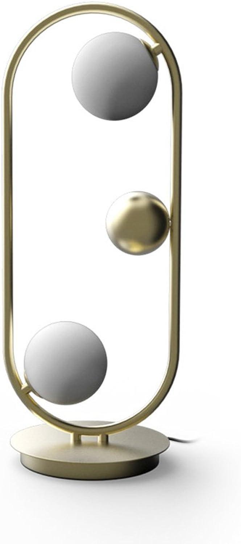 Homelx American Modern Art Kreative Saturn Ring Sphärische Lampe, Schlafzimmer Nacht Romantische Leselampe Industrie Artwohnzimmer Studienbüro Tischlampe, Stehlampe, G9 (Farbe   Gold) B07BKW7SPM     | Umweltfreundlich