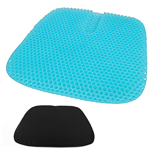 Heofean Gel Cushion, New Large Honeycomb Design Seat Cushion, Super breathable non-slip double thickened cushion, Used to reduce the pressure on the tailbone back, Wheelchair, Car seat, Office chair