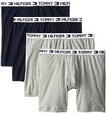 Tommy Hilfiger Men's 4 Pack Boxer Brief, Grey/Navy, Large