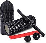 5 en1 Foam Roller Kit, Rodillo de Espuma, Roller Masaje, 2 Bola Masaje, Bandas Elasticas Fitness, para Profundos Masaje Muscular,Punto de activación, Yoga, para Relajan Músculos Rígidos y Adoloridos