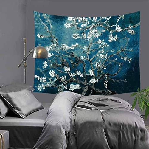 WERT Wandteppich Wandbehang Schöne Gedruckte Bunte Romantische Blumen Wildblumen...