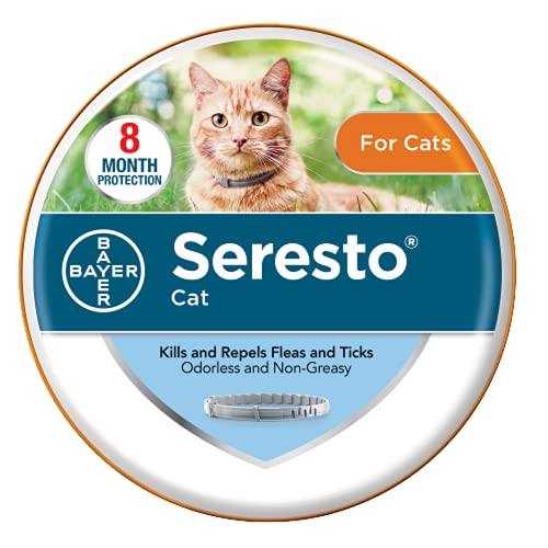 Seresto Flea and Tick Collar for Cats, 8-month Flea and Tick Collar for Cats