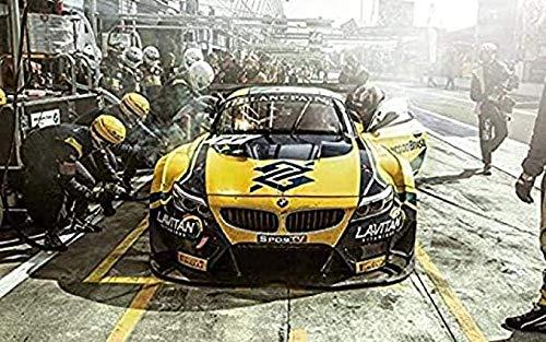 VGSD Cuadro Clásico Pit Stop Race Cars Z4 Lienzo Pintura Pared Arte Impresión Imagen, para Decoración del Hogar 50X70 Cm