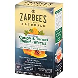 Zarbee's Naturals Cough & Throat Relief + Mucus Nighttime Drink Mix, Apple Spice Flavor, 6 Packets