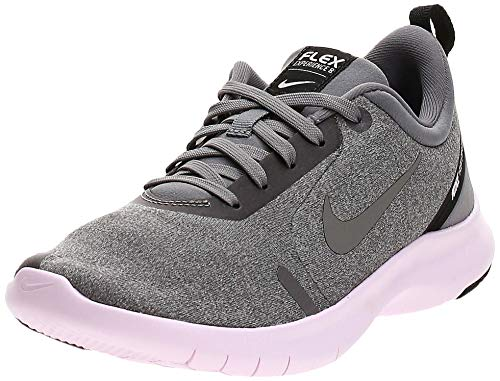 Nike Womens Flex Experience RN 8 Fabric Low Top Lace Up Running, Grey, Size 7.0