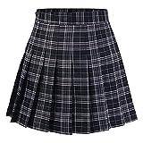 Girls Women Skirts High Waist Pleated Skirt School Uniform Mini...