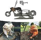 aotekar Portable Chicken Stand, American Motorcycle Beer Can Chicken Stand, Beer Chicken Roaster, Chicken Roaster Stand Racks for Grilling, Indoor Outdoor (A)