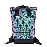 Alik'S Rolltop Backpack con sfaccettature Riflettenti per Lo Sport, l'escursionismo, la Corsa o Altro (FULLCOLOR)