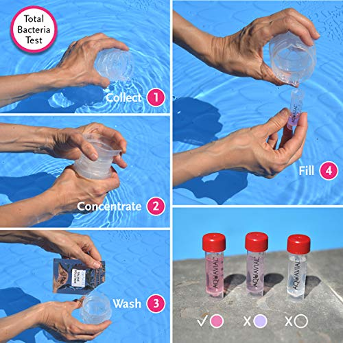 Aquavial Plus Total Bacteria E. Coli Drinking Water Test Kit
