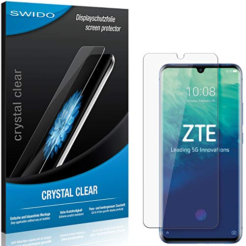SWIDO Schutzfolie für ZTE Axon 10 Pro [2 Stück] Kristall-Klar, Hoher Festigkeitgrad, Schutz vor Öl, Staub & Kratzer/Glasfolie, Bildschirmschutz, Bildschirmschutzfolie, Panzerglas-Folie