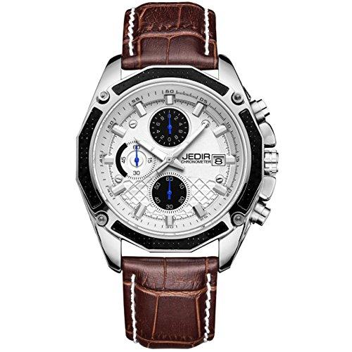 JEDIR Men's Chronograph Quartz Wrist Watch...