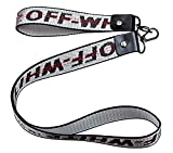Off Ow 2 pcs of Industrial Fashion Key Chain, Personalized Embroidery Canvas Rope, Wide Applicability, can Hang The Key, Mobile Phone, Wallet, Jeans Decoration Rope(Silvery White)