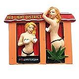 3D Rotes Licht District of Amsterdam Niederlande Kühlschrankmagnet Souvenir Geschenk Home & Kitchen Decor Magnetaufkleber Amsterdam Niederlande Kühlschrankmagnet