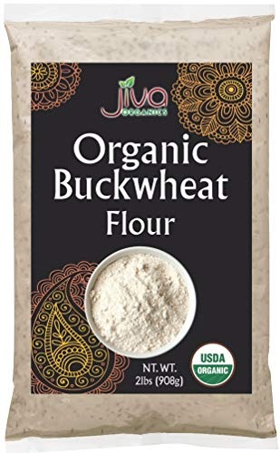 Organic Buckwheat Flour Light 2 LB - Vegan, Non-GMO - by Jiva Organics