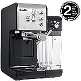 Breville PrimaLatte II Kaffee- und Espressomaschine VFC108X-01, 19 bar, für Kaffeepulver oder Pads...