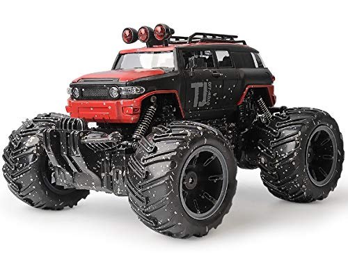 Gizmovine Remote Control Car RC Mud Monster Car Rechargeable Truck with Mud Splatter Paint Job (Red)