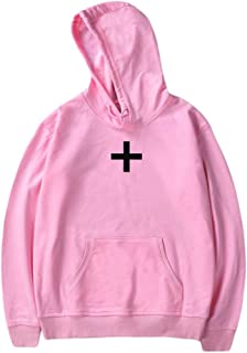 Cathalem Women Casual Hoodie Cross Print T Shirt Graphic Pullover Sweatshirts Plus Size