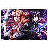 Japanese Anime Sword Art Online Wooden Jigsaw Puzzles HD Printed Cartoon Patchwork Pattern Decompression Jigsaw Puzzles for Adults,Kids,Team Work Building (1000 Pcs)