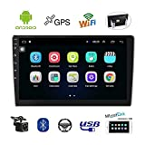 Double Din Car Stereo 10.1 Inch Android Navigation Stereo Touch Screen in Dash Car Radio Bluetooth FM Radio Receiver Support WiFi Mirror Link, Steering Wheel Control, Rear View Camera, Dual USB