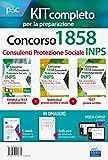 Concorso INPS 1858 consulenti protezione sociale. Kit completo 3 manuali. Prove scritte e prova orale. Con ebook. Con software di simulazione. Con video-corso di logica