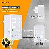 Heidenfeld Infrarotheizung HF-HP100 800 Watt Weiß - inkl. Thermostat - 10 Jahre Garantie - Deutsche Qualitätsmarke - TÜV GS - Für 12-19 m² Räume (HF-HP100 800 Watt) - 8