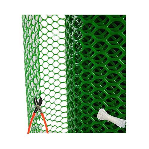 SAI PRASEEDA PVC Garden Fencing Net/Mesh (4feet Height/15feet Length) UV Stabilized 800GSM Anti Bird Net Green Color 6 Months Guarantee with Free 1 Cutter,100 PVC Tags FN:10