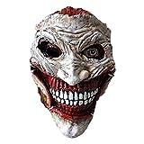 ZYER Máscara de Joker, Disfraz de Payaso de Halloween Máscara de Payaso de Látex, Máscara de Cosplay Prop Party (Una talla le queda a la mayoría)