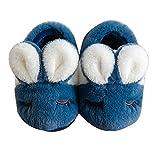Xindiqiu Zapatillas Cómodas para Niños Forro de Felpa Zapatos de Casa de Espuma Viscoelástica de Invierno Zapatillas de Dormitorio para Niñas y Niños