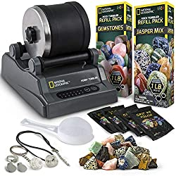 top 10 rock tumbler ratings National Geographic Hobby Rock Tumbler Kit – Stone Polisher for Kids and Adults with Reduced Noise Levels…