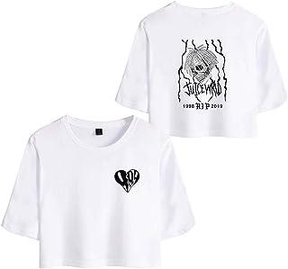 Flyself Girls Juice Wrld Crop Top T-Shirts Summer Casual Sportswear Pajamas Yoga Clothes