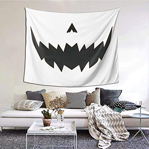 Lantern Pumpkin Halloween Tapestry Wall Hanging Home Decoration Dormitory Bedding 3D Printed Tapestry 60×51inch