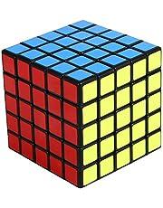 Shengshou 5x5x5 Speed Cube Smooth Sticker 5x5 Magic Cube Toys Puzzle Twist 64mm (Black)