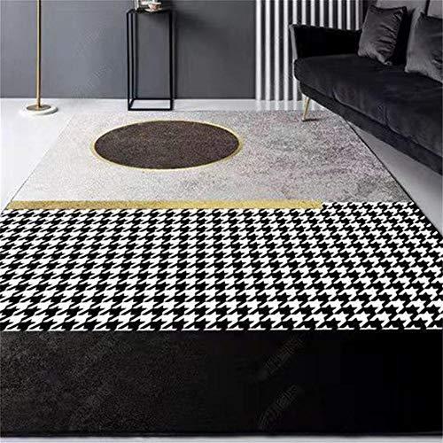 alfombra habitación matrimonio Gris Alfombra de sala de estar gris clásico geométrico abstracto suave alfombra antideslizante alfombras y moquetas 80X160CM alfombras infantiles 2ft 7.5''X5ft 3''