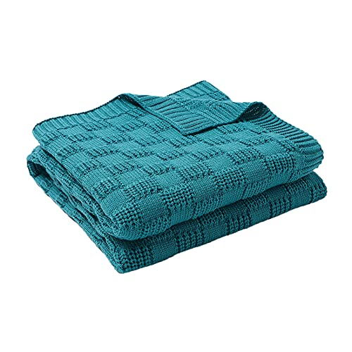 Gojiny Swaddle Blanket Unisex Knitted Stroller Swaddle Blanket Stroller Blanke Toddler Foldable Portable Knit Crochet Throw Blanket 30inx40in for Swaddle Sleep Blanket Crib Wrap