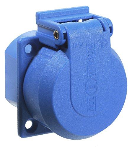 as - Schwabe 45085 230 V geaarde inbouwdoos, blauw, met klapdeksel IP 54