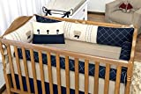 Oferta Kit Berço Theon - 9 Peças, Batistela Baby, azul marinho por R$ 560.21